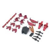 Wltoys K969 K979 K989 1/28 طقم أجزاء معدنية مطورة بالكامل أحمر اللون RC سيارات مركبات نموذج ملحقات