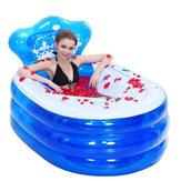 145x80x45cmFaltbare aufblasbare Badewanne Portable Erwachsene mit Luft Pumpe Steam Spa Sauna Tauchbad