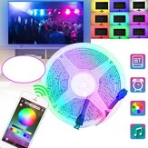 1/2/3/4/5M 2835RGB Flexible LED Strip Lights Bluetooth APP Control USB Bar TV Back Light Christmas Decorations Clearance Christmas Lights