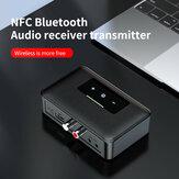 Bakeey NFC BT19 bluetooth 5,0 transmisor receptor 3,5 mm AUX indicador LED adaptador de auriculares reproductor de audio para coche