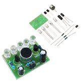 3pcs DIY Voice Controlled Melody Light 5MM Highlight DIY LED Flash Electronic Training Kit