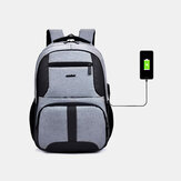 Men Nylon USB Charging Waterproof Business Large Capacity 15.6 Inch Laptop Bag Luggage Backpack