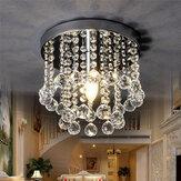 220V Crystal LED Потолочный светильник Хрустальная люстра Современный светильник для скрытого монтажа