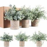 3 en 1 Mini plante en pot pot de fleur en plastique artificiel plantes vertes de table bonsaï salon bureau ornement de bureau