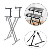 Adjustable Black Single Tube Heightening Electronic Piano Stand Keyboard Instrument Support Holder Parts Accessoreis