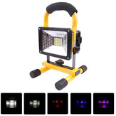 30W 24LED Portable Akumulator Flood Light Wodoodporna plama pracy Latern Outdoor Camping Trawnik