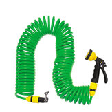 Coiled Wash Down Hose with Nozzle Flexible Portable Expandable Garden Water Hose With Nozzle
