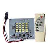 Işık kontrollü Solar Işık için DC3.7V 10W LED Uzakdan Kumanda DIY Beyaz Işık Kaynağı Çip
