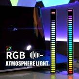 RGB USB Energiesparlampe Sprachaktiviertes Pickup Rhythmuslicht Auto Umgebungslampe Musik Atmosphäre Licht Spiel Licht