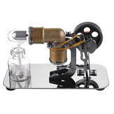 Mini Hot Air Stirling Engine Motor Model Educational Toy Kits
