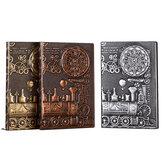 Alivio Cuaderno retro A5 Tema de la máquina vendimia Cuaderno diario de tapa dura Papelería de regalo Escritura Oficina de negocios Bloc de notas de regalo