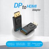 VENTION DP-HDMIアダプター1080Pディスプレイポートオス-HDMIメスコンバーター(PCラップトッププロジェクター用)