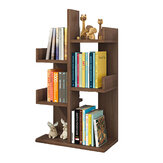 Drawing Black Oak Creative Bookshelf Simple living room Floor Type Shelf for Household Use