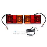 12V16LEDluzdacauda do carro 4 LED lâmpada da matrícula para o barco do reboque do caminhão