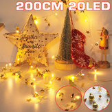 2M 20 LED Fairy String Light Battery Operated Christmas Tree/Christmas Ball Holiday Party Decoration Lamp