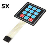 5Pcs 4 x 3 Matrix 12 Key Array Membrane Switch Keypad Keyboard Geekcreit for Arduino - products that work with official Arduino boards