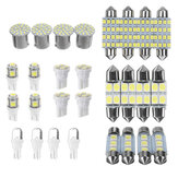 14/28PCS Car Interior LED Light Side Marker Dome License Plate Mixed Lamp Set Accessories