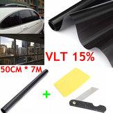 50cm X 7m 15% VLT Odcień okienny Czarna rolka do samochodów Auto House Office Commercial