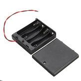 4xAA電池DIYキットケース用スイッチ付き4スロット単三電池ボックス電池ホルダーボード