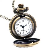 Alice In Wonderland Minum Saya Kelinci Bunga Key Pocket Watch