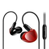 3.5mm jack com fio controle fone de ouvido estéreo com cancelamento de ruído fone de ouvido com microfone para iphone xiaomi