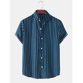 Праздничные повседневные мужские рубашки с короткими рукавами