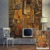 Pag rolo cego persianas abstração casa decoração parede fundo da pintura de cortina da janela