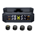 Universal Car Solar Wireless Tyre Tire Pressure Monitor LCD Tester+4 Sensors