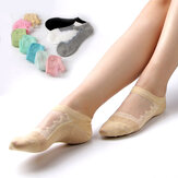 Women Hollow Out Cotton Low Cut Athletic Non Slip Sock