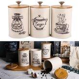 3szt retro herbata kawa słoików kanistrów słoiki garnki pojemniki do przechowywania kuchni
