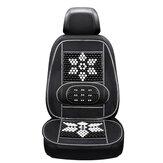 Car Summer Massagem Cool Cushion Seat Cover Esferas de madeira respiráveis Encosto monolítico para suprimentos de interiores de automóveis