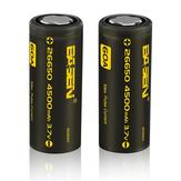 5pcs Basen BS26003 26650 4500mah 3.7V 60A Unprotect Flat Top Rechargeable Li-ion Battery