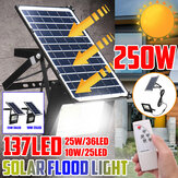 250W Solar ضوء LED Street Floodlight Garden Spotlight التحكم عن بعد مراقبة