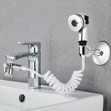 Bathroom Wash Face Basin Water Tap External Shower Head Flexible Hair Washing Pet Clean Faucet Rinser Extension Set Two Gears Adjustable Shower Water Flow
