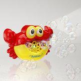 Máquina de bolha de música caranguejo fabricante de bolha máquina bolha sopradora brinquedos científicos