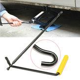 Steel Scissor Jack Handvat Krukgereedschap Auto Van Garage Bandenwiel Lug Wrench