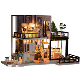 Miniature Doll house DIY Handcraft Kit Furniture Wooden House Romantic House