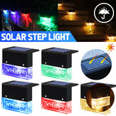 1/4Pcs Solar LED Deck Lights Outdoor Garden Pathway Stairs Step Fence Lamps Waterproof for Courtyard Park Balcony