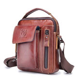 Bullcaptain Genuine Leather Business Messenger Bag