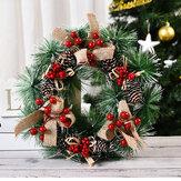 Grinalda de Natal de 32 cm feita à mão Pingente Garland Shopping Mall para 2020 Decoração de Natal para casa Árvore de decoração de porta
