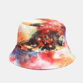Graffiti Galaxy Fisherman Sombrero Lavabo de algodón para mujer Sombrero Cubo Sombrero