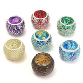 Glass Sparkling Mosaic Crystal Candle Holder Romantic Candle Container Valentine's Day Gift
