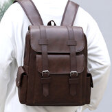 Men Vintage 14 Inch Laptop Large Capacity Bag Backpack