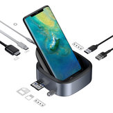 Baseus 8 in 1 USB-C Type-C Docking Station Hub Adapter With 3 * USB 3.0 Ports/49W Type-C PD Charging Port/4K HD Display/3.5mm Audio Jack/Memory Card Readers