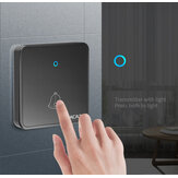Original              CACAZI H86 Wireless Doorbell Waterproof 300M Remote 1 2 Battery Button 1 2 3 Receiver Home Door Ring Bell Chime