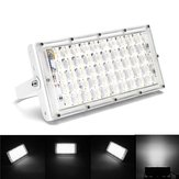 50W  White Light LED Flood Light Waterproof White Shell Landscape Garden Lamp for Outdoor AC185-265V
