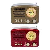 Портативный Ретро Радио AM FM SW Bluetooth Динамик Слот TF Карты Аккумуляторная