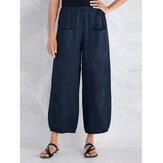 S-5XL Pantalons décontractés à taille élastique pour femmes