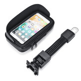 4.7'' Waterproof Sun Shade Anti-UV Cellphone GPS Holder Motorcycle Mount Case Bag