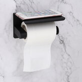 Paper Roll Holder Black Wall Mounted Kitchen Bathroom Toilet Tissue Storage Tool